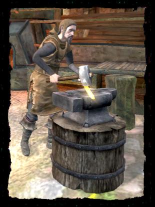 a blacksmith at work