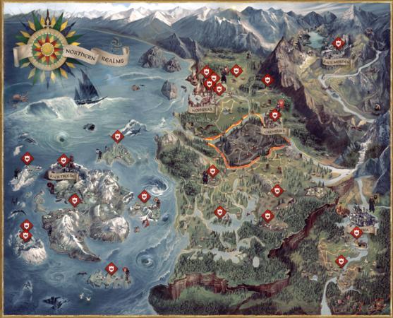 the witcher 3 karte Weltkarte – Offizielles Hexer Wiki   Charaktere, Monster, Orte