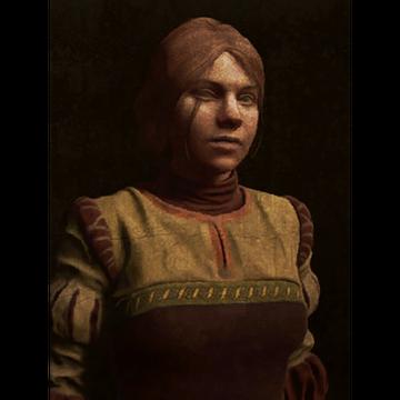 Auburn Maiden on a Field of Black