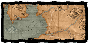 Arcsea, labelled the Arc Coast on the first game map