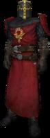 Order knight, dress uniform, plain helmet, yellow detail