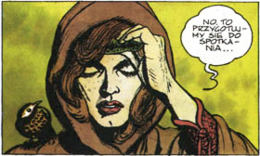 Visenna from the graphic novel A Road with No Return, illustrated by Bogusław Polch
