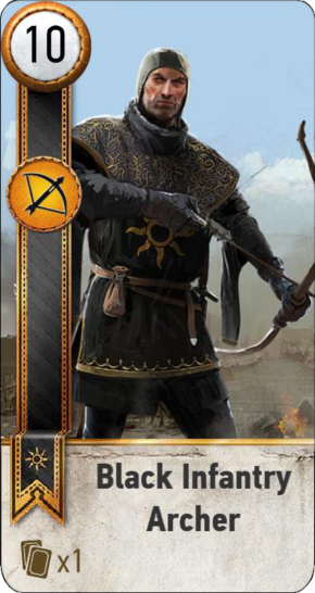 Tw3 gwent card face Black Infantry Archer 2.png