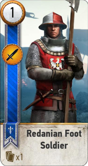 Tw3 gwent card face Redanian Foot Soldier 2.png