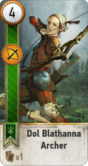 Tw3 gwent card face Dol Blathanna Archer.png