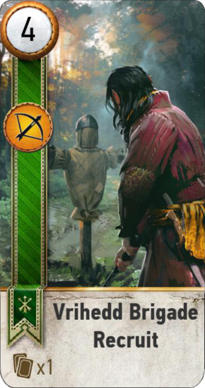 Tw3 gwent card face Vrihedd Brigade Recruit.png