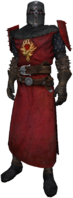 Order knight, dress uniform, plain helmet