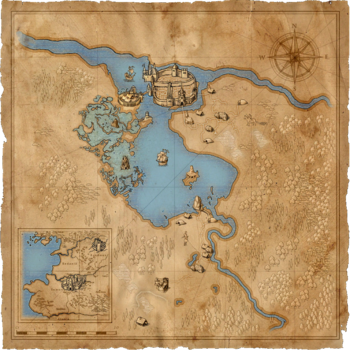 Game world map