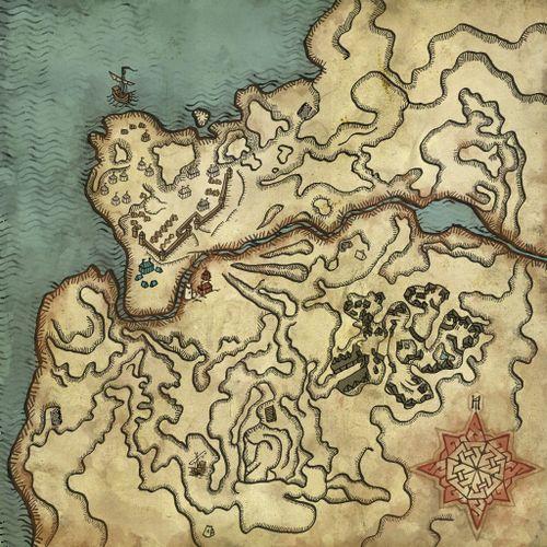 Map of the Kaedweni camp