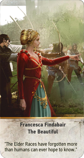 Tw3 gwent card face Francesca Findabair the Beautiful.png