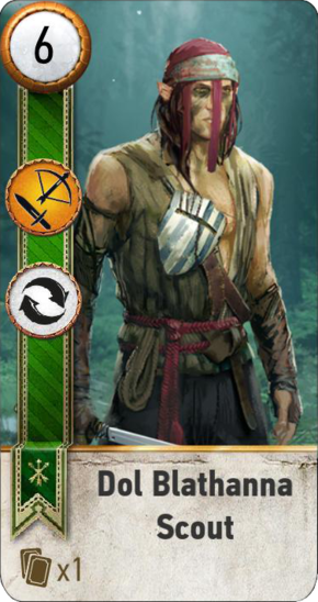 Tw3 gwent card face Dol Blathanna Scout 1.png