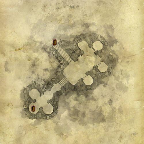 Mappa della cantina della torre