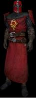 Cavaliere dell'Ordine, in uniforme con elmo rosso