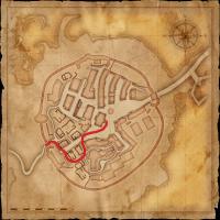 Strada dell'Ordine per raggiungere la breccia nelle mura