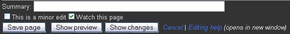 Edit summary text box