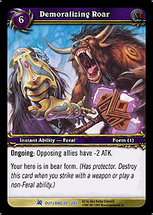 Demoralizing Roar TCG Card.jpg