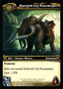 Shattrath City Peacekeeper TCG Card.jpg