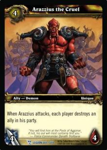 Arazzius the Cruel TCG Card.jpg