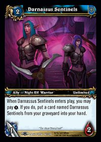 Darnassus Sentinels TCG Card.jpg