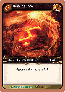 Rune of Koro TCG card.jpg
