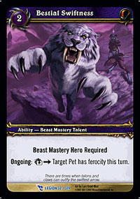 Bestial Swiftness TCG Card.jpg