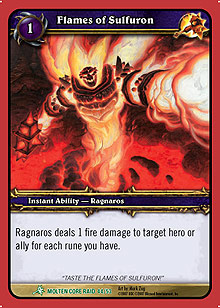 Flames of Sulfuron TCG card.jpg