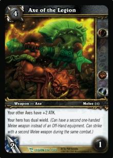 Axe of the Legion TCG Card.jpg
