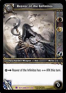 Reaver of the Infinites TCG Card.jpg