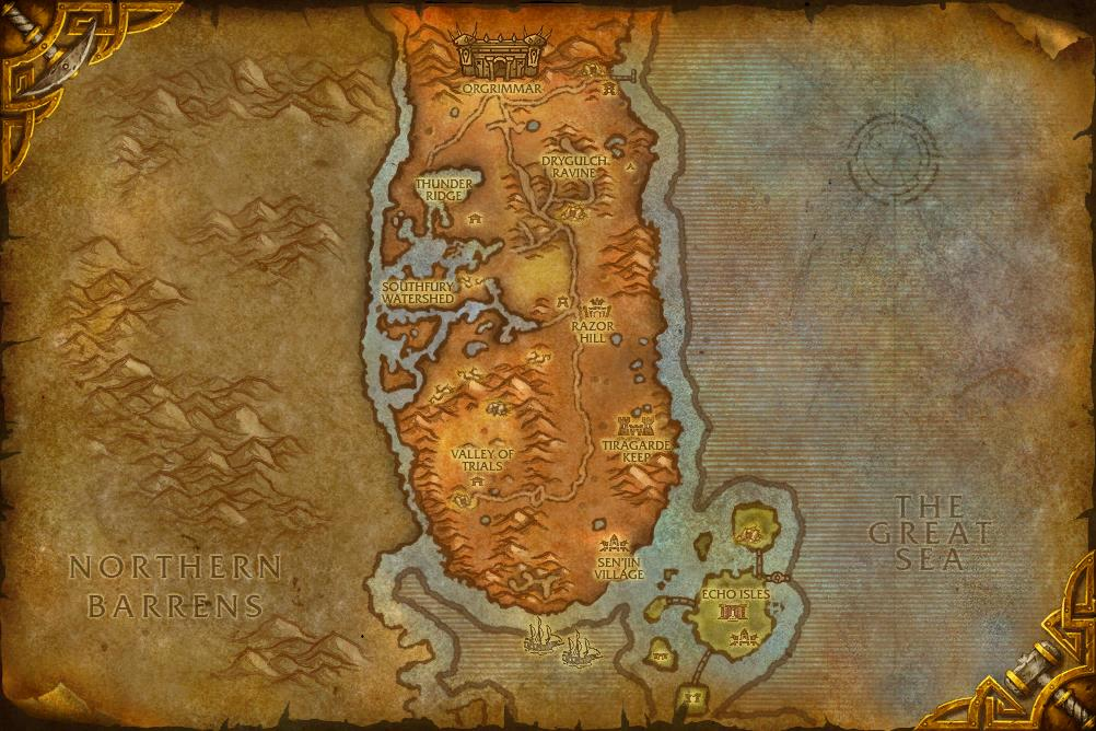 orgrimmar to thunder bluff