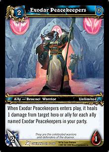 Exodar Peacekeepers TCG Card.jpg