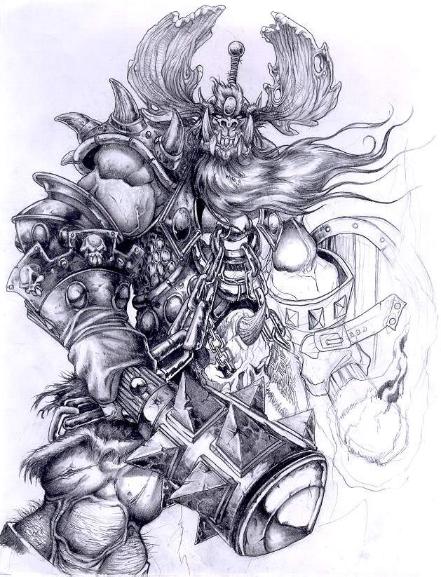 Варкрафт картинки черно белые