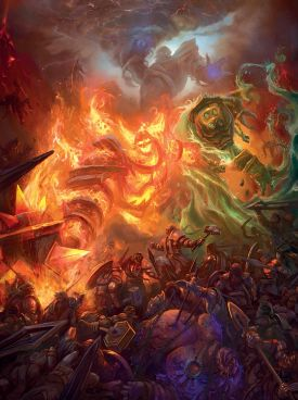 War between the titans and the Old Gods
