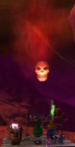 Image of Floating Skull