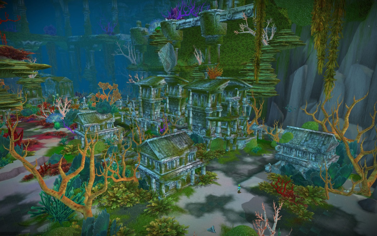 Now you've seen the Night elf empire - was it more advanced?