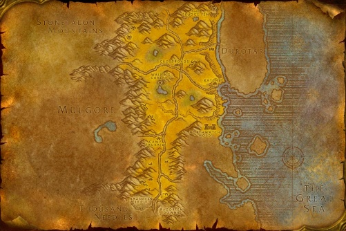 The Barrens map