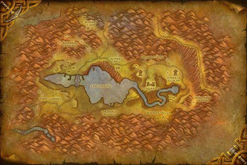 Redridge Mountains map