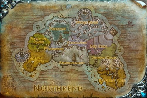 Northrend map