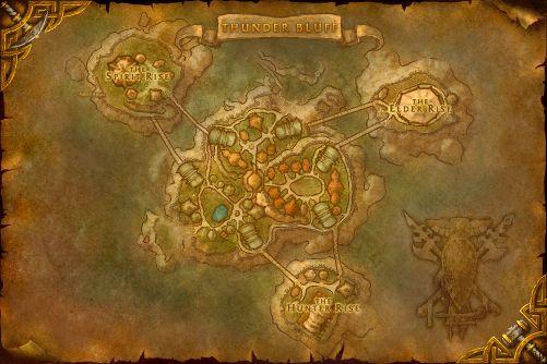 Thunder Bluff map
