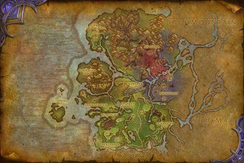 Val'sharah map