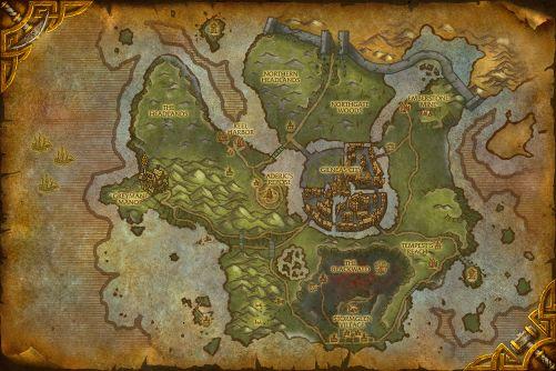 Ruins of Gilneas map