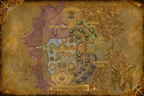 Darnassus map
