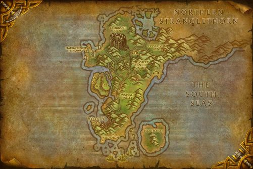 Cape of Stranglethorn map