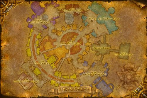 Ironforge map