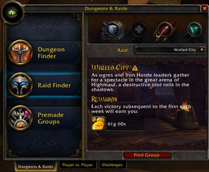 Raid Finder - Wowpedia - Your wiki guide to the World of