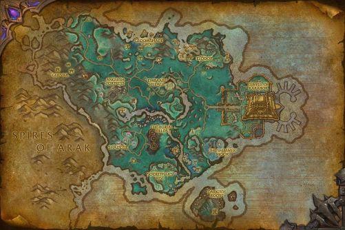 Shadowmoon Valley (alternate universe) map