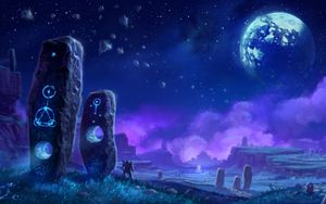 Concept artwork of Draenor's Shadowmoon Valley