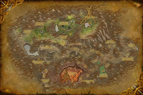 Mount Hyjal map