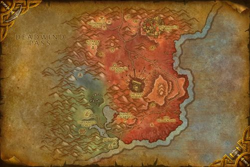 Blasted Lands map