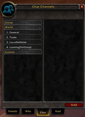 Chat Channels - Wowpedia - Your wiki guide to the World of Warcraft