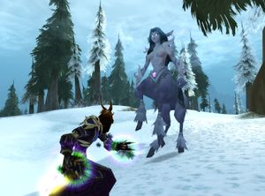 A frost nymph in Northrend
